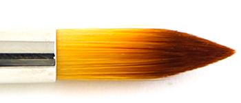 Feiner Pinselkopf mit Pinsel-Besatz aus hellem Kunsthaar